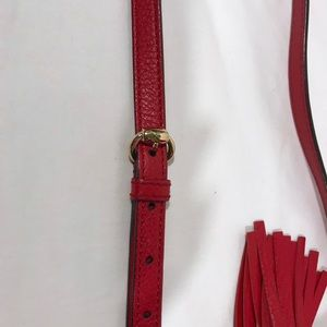 Gucci Bags - 100% Authentic Red Gucci Leather Soho Disco Bag